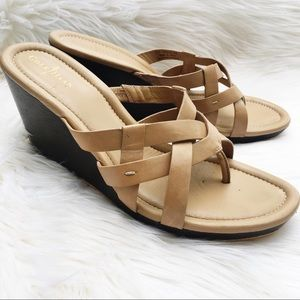 0630e7afea60b Cole Haan Shoes - Cole Haan  Bonnie  Nike Air Nude Strappy Wedges